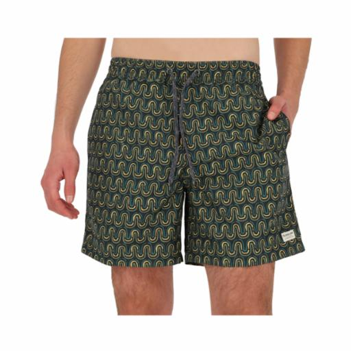 "Shorts Volley Quiksilver Threads And Fins 17"" Parisian Night"