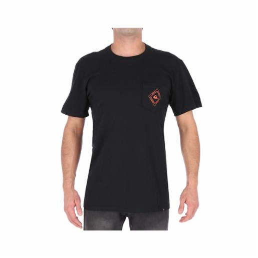 Polera Quiksilver Silver Point Black