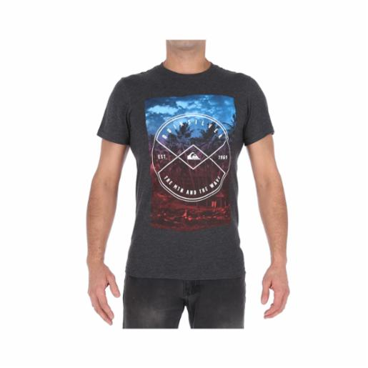 Polera Quiksilver Hide Place Charcoal Heather