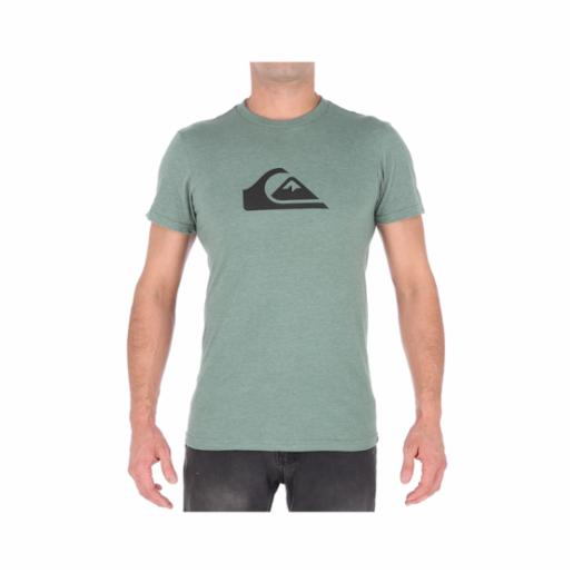 Polera Quiksilver Mountain Wave Rifle Green Heather