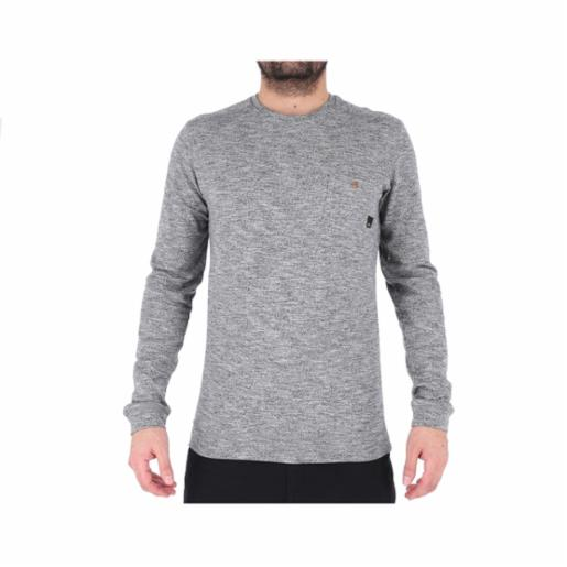 Polera Quiksilver Lindow Dark Grey Heather