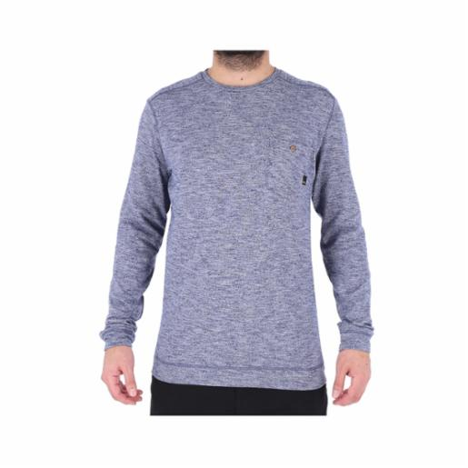 Polera Quiksilver Lindow Navy Blazer Heather